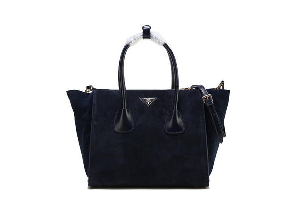 Prada Suede Leather Tote Bag BN2619 RoyalBlue