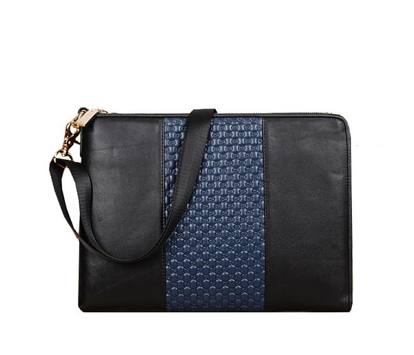 Gucci Guccissima Messenger Bag 118954 Black&Blue