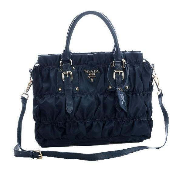 Hot Sell Prada Gaufre Fabric Top Handle Bag BN1336 Royalblue