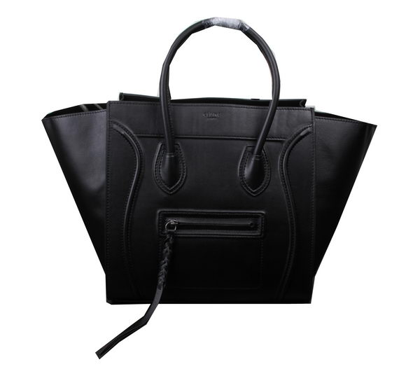 Celine Luggage Phantom Tote Bag Ferrari Leather 3341 Black