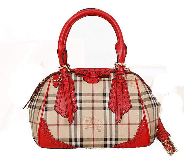 BurBerry Medium Orchard Bag in Haymarket Check 8945 Red
