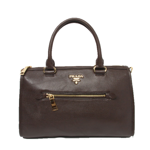 Prada Original Leather Top Handle Bag BL0805 Brown