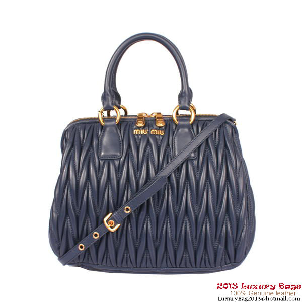 miu miu Mateleasse Small Top Handle Bag 81199 RoyalBlue