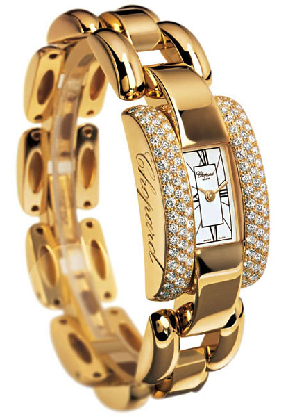 Chopard La Strada Series Diamond 18kt Yellow Gold Ladies Swiss Quartz Watch 416547