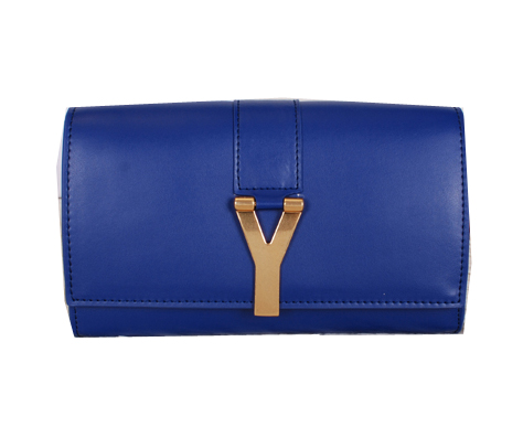 Yves Saint Laurent Chyc Travel Case Smooth Leather Y7141 Royal