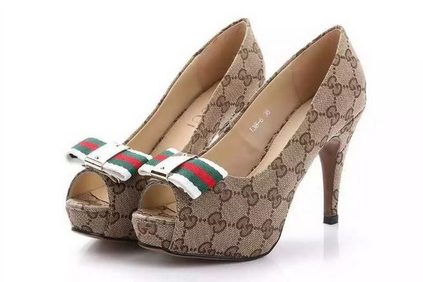 Gucci GG Canvas 10mm Pump GG0535 Brown