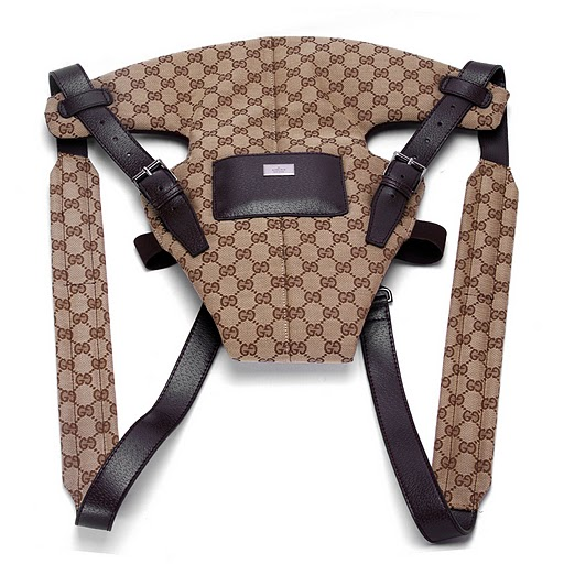 Gucci Baby Carrier 28550 Brown Straps