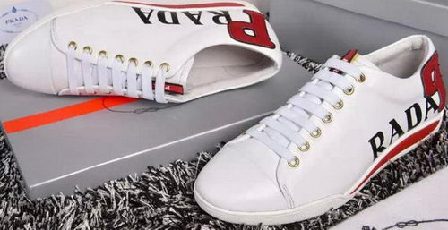 Prada Casual Shoes Calfskin Leather PD388 White