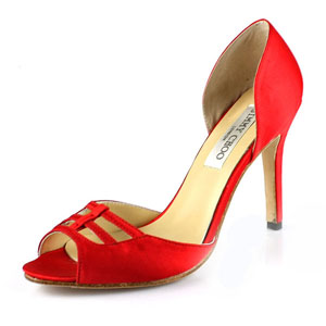 Jimmy Choo Fahion Satin Sandals Red