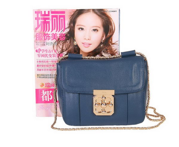 Chloe Mini Elsie Shoulder Bag 181624 Blue