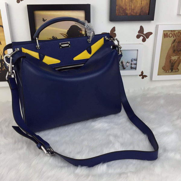 Fendi Regular Peekaboo Medium Tote Bag F30360 Royal