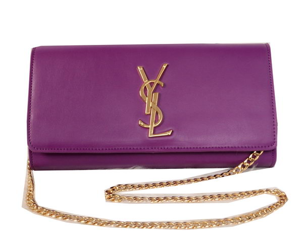 Yves Saint Laurent Classic Monogramme Clutch 311213B Purple