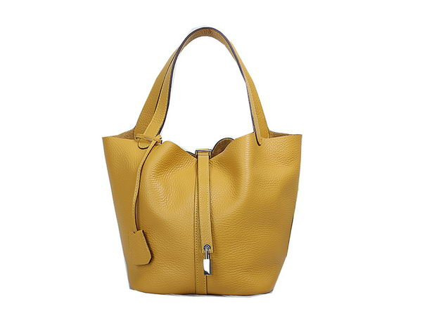 Hermes Picotin Lock MM Bag in Original Leather Yellow
