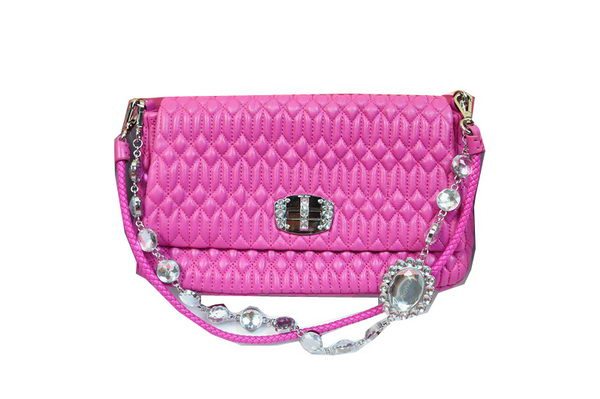 miu miu Matelasse Lambskin Leather Shoulder Bag RT0223 Rose