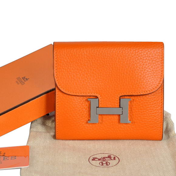 Hermes Constance Wallets Togo Leather A608 Orange