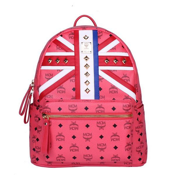 MCM Medium Flag of UK Backpack MC5173 Red