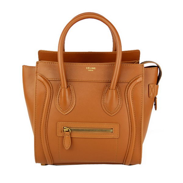 Celine Luggage Micro Bag Smooth Leather 88023 Wheat