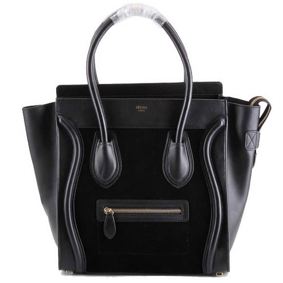 Celine Luggage Bags Jumbo in Suede Black