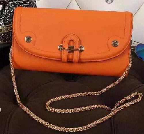 Hermes Passe-Guide Shoulder Bag Calfskin Leather H33225 Orange