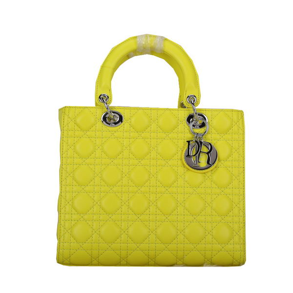 Lady Dior Bag Medium Bag Sheepskin Leather D44560 Yellow