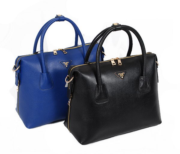 PRADA Grained Calf Leather Tote Bag BN2424