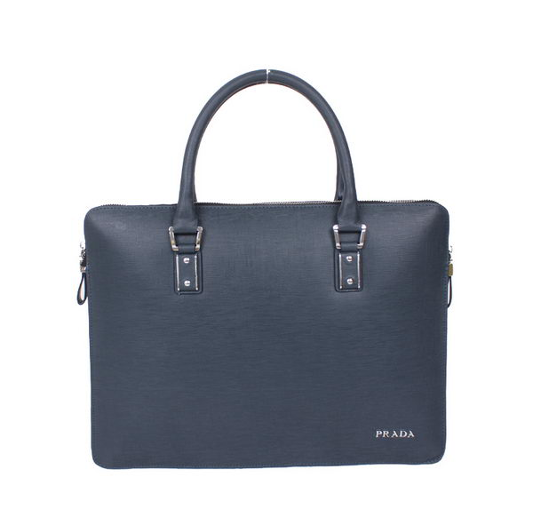 PRADA Saffiano Leather Briefcase 79773 RoyalBlue