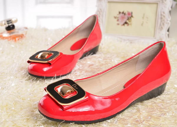 Dior Patent Leather Flat D3303 Red