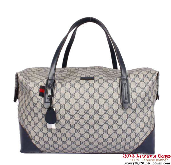 Gucci Original GG Canvas Carry-on Duffel Bag 308925 Blue