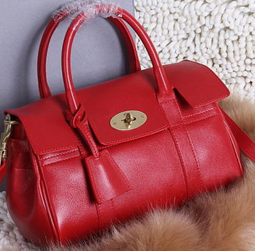 Mulberry Bayswater Small Tote Bag Natural Leather 5988S Red