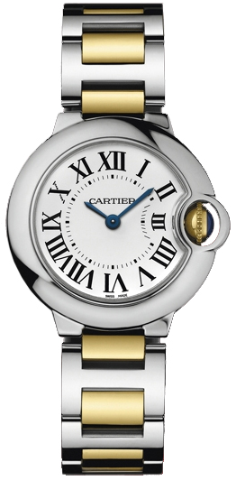 Cartier Ballon Bleu Small Series Beautiful Stainless Steel Ladies Swiss Quartz Wristwatch-W69007Z3