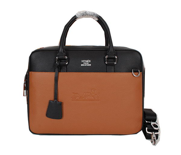 Hermes Mens Briefcase Original Grainy Leather H86681 Wheat