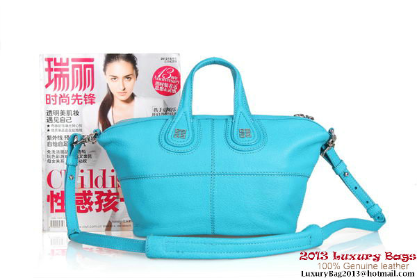 Givenchy Nightingale Leather Holdall Bag G6322 Light Blue