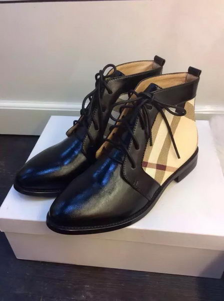 BurBerry Ankle Boot Leather BUR117 Black