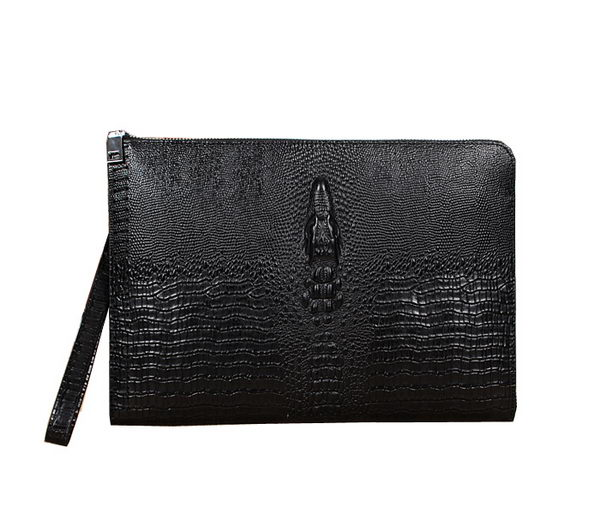 Cartier Croco Leather Clutch 35185 Black