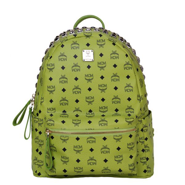 MCM Medium Top Studs Backpack MC4232 Green