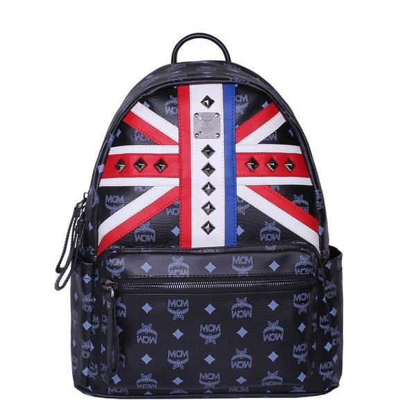 MCM Medium Flag of UK Backpack MC5173 Black