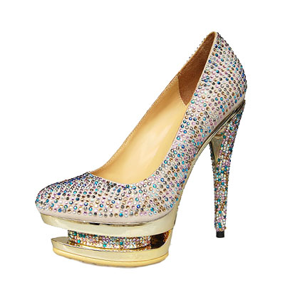 Gianmarco Lorenzi Multicolor Rhinestone Embellished Pumps