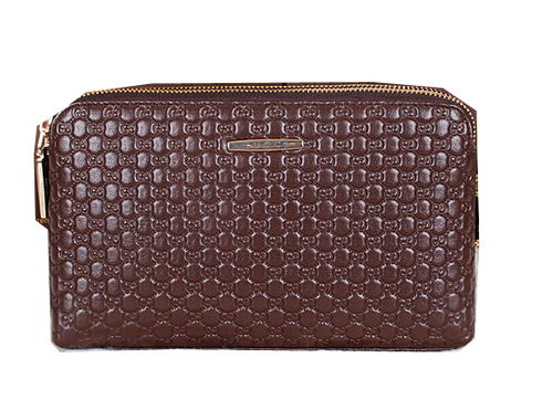 Gucci Guccissima Leather Mens Clutch G622392 Brown
