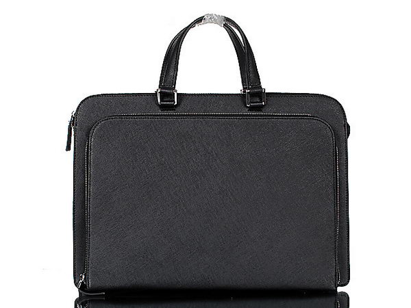 PRADA P002 Black Saffiano Calf Leather Briefcase