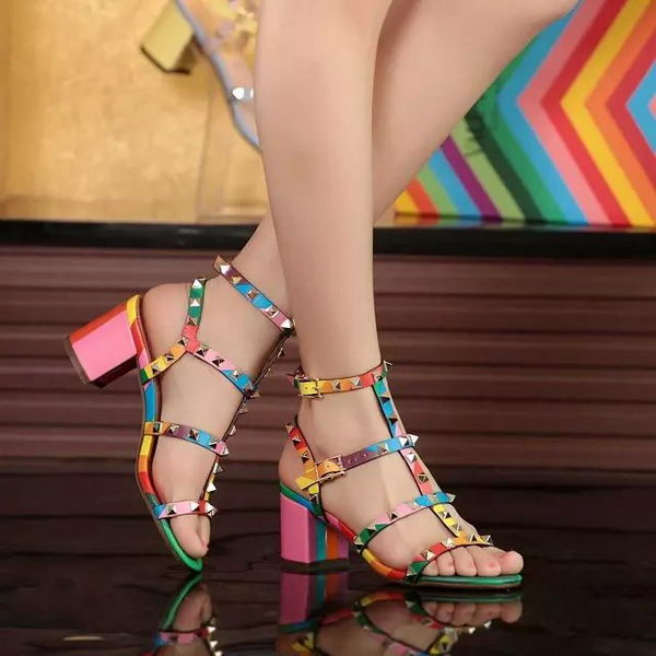 Valentino Leather Sandal VT559 Multicolour
