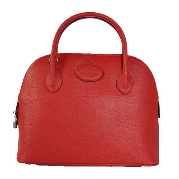 Hermes Bolide 31CM Tote Bags Clemence H1031 Red