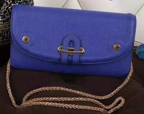 Hermes Passe-Guide Shoulder Bag Calfskin Leather H33225 Blue