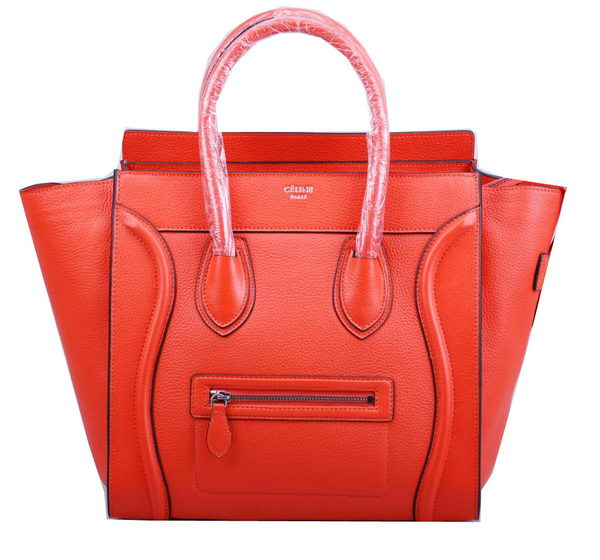 Celine Luggage Mini Tote Bag Grainy Leather Ci3308 Orange