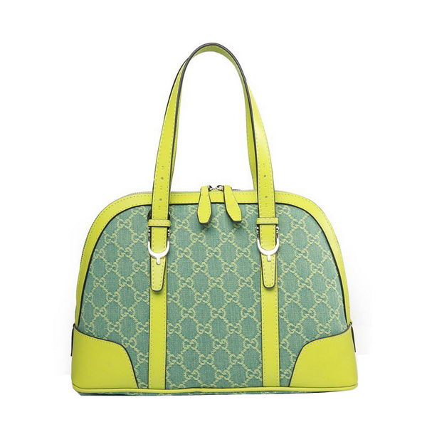 Gucci GG Denim Canvas Nice Star Small Top Handle Bag 309617 Green