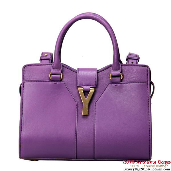 Yves Saint Laurent Small Clafskin Cabas Chyc Bag YSL2030S Purple