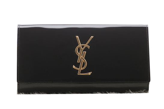 Saint Laurent Classic Monogramme Clutch Patent Y5486 Black