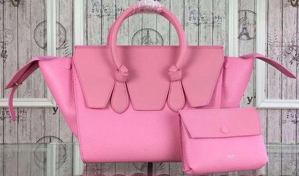 Celine Tie Top Handle Bags Original Leather CT98314 Pink
