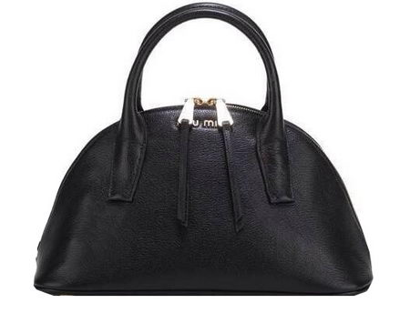 miu miu Original Goat Leather Top Handle Bag RN0091 Black