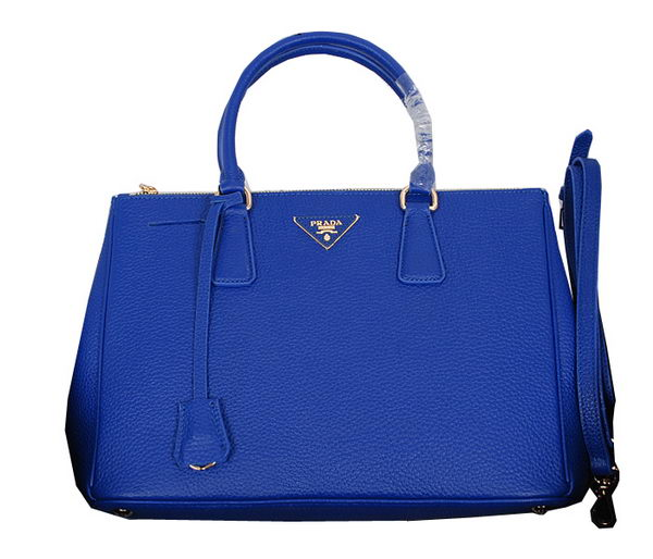Prada Grainy Leather Tote Bag BN2964 Blue