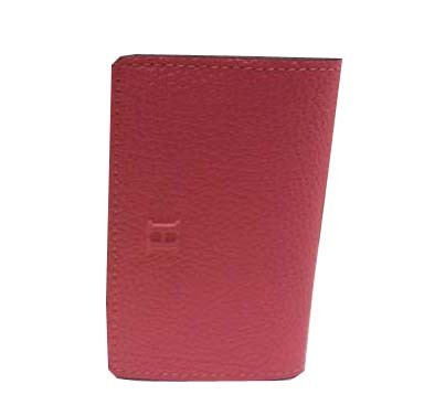Hermes Grainy Leather Business Card Holder H887 Pink